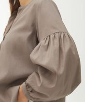 """""""ARKET"""" Fluid Lyocell Blouse Taupe"""