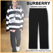 品格感じるLXストリート◆BURBERRY◆Wool Wide-leg Trousers