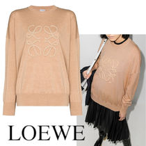 LOEWE ANAGRAM EMBROIDERED SWEATER IN WOOL