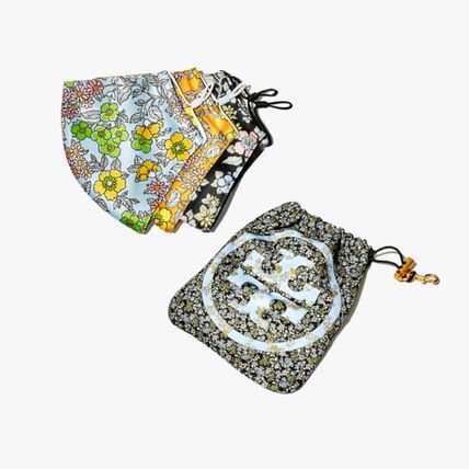 Tory Burch マスク 【Tory Burch】PRINTED FACE MASK, SET OF 3 WITH POUCH♪(2)
