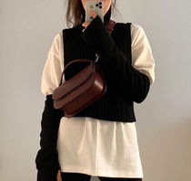 [TheOpen Product]GLOVES & VEST KNIT TOP, BLACK☆