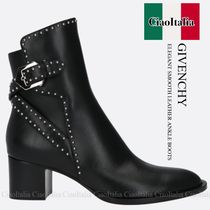 GIVENCHY ELEGANT SMOOTH LEATHER ANKLE BOOTS