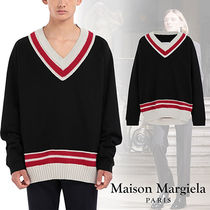 【直営店】Maison Margiela■Oversized knit trim sweatshirt 黒