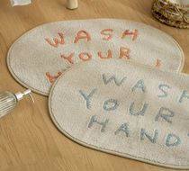【DECO VIEW】 WASH YOUR HANDS ソフト足マット