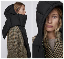 ZARA【NEW】QUILTED SCARF WITH HOOD