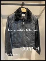 21年冬 COACH★メンズ★Leather Aviator Jacket 3072