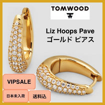 ■VIPSALE・日本未入荷■ Tom Wood Liz Hoops Pave Gold ピアス