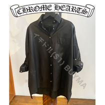 Chrome Hearts MAHAL KITA SHIRT Black Leather Cross Patch