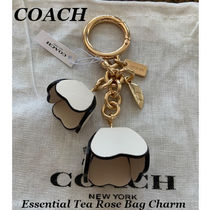 【COACH】Essential Tea Rose Bag Charm