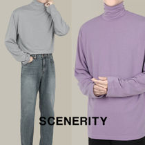 SCENERITY Soft polo neck T-shirt