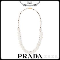 PRADAプラダ REFERENCE SILVER NECKLACE WITH SHELLS