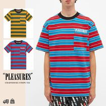 PLEASURES | CHAINSMOKE STRIPE T-SHIRT ロゴTシャツ 関税送料込