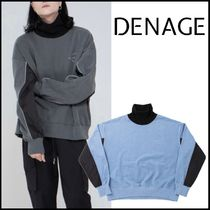 日本未入荷!【DENAGE】Quilting Turtleneck M2M PIGMENT/2色