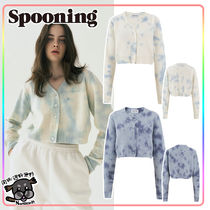 【SPOONING】HAND-DYING SCOOP CARDIGAN