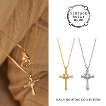 VINTAGE HOLLYWOOD(ヴィンテージハリウッド) ネックレス・ペンダント VINTAGE HOLLYWOOD★2020 Delicated Texture Cross Necklace