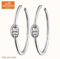 【HERMES】DHL発 ピアス「Creoles Chaine d'Ancre Enchainee」GM