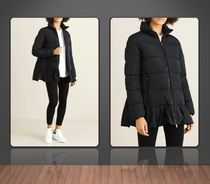 Moncler**'Brunec' down jacket with ruffle hem**Black