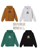 US発 STUSSY Holiday 20 LION EMBROIDERED HOODIE フーディ