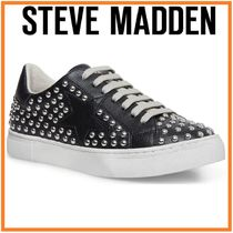関税送料込 Steve Madden Riled Studded Lace-up Sneakers