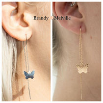 ★Brandy Melville BUTTERFLY ドロップ ピアス 送料込/関返★
