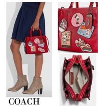 完売必須*COACH x Disney*Rogue 25 With Patches*コラボ♪
