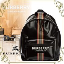 【BURBERRY VIPSALE!!】レザーリュックサック バックパック