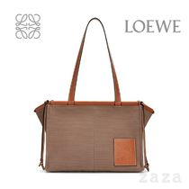 LOEWE★ロエベ Small Cushion Tote bag in canvas and calfskin