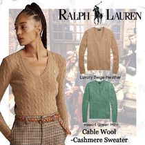 NEW!!【Polo Ralph Lauren】Cable Wool-Cashmere Sweater