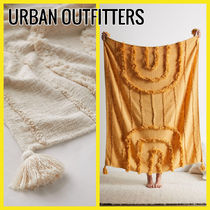 【URBAN OUTFITTERS】Modern Hilo スローブランケット フリンジ