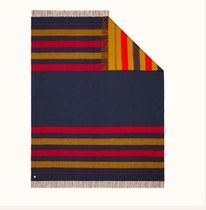 Double-sided, Blanket Rocabar(H800507E 01) wool, 150x185cm
