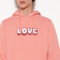 """""""sandro homme"""" Hoodie With Embroidered Lettering Pink"""