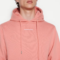 """""""sandro homme"""" Hoodie Sweatshirt With Logo Embroidery Pink"""