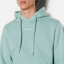 """""""sandro homme"""" Hoodie Sweatshirt With Logo Embroidery LG"""