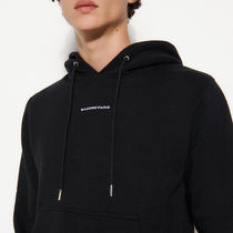 """""""sandro homme"""" Hoodie Sweatshirt With Logo Embroidery Bl"""