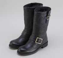 Jimmy Choo★BIKER Black Leather Boots 【関税込EMS謝恩品】