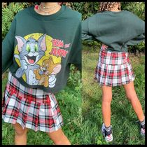 ASOS Vintage Supply cropped sweatshirt with tom & jerry
