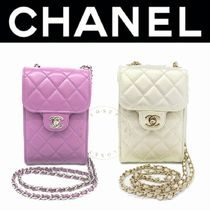CHANEL フラップ バッグ ショルダー チェーン cc 紫 マト ギフト