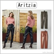 【Aritzzia】 Wilfred High Tied Pant ビーガンレザーパンツ