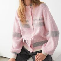 """""""& Other Stories"""" Relaxed Ribbed Cardigan Pink"""