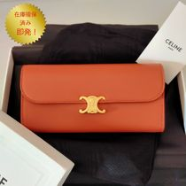 CELINE LARGE TRIOMPHE WALLET IN SHINY SMOOTH LAMBSKIN