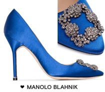 送料関税込み★Manolo Blahnik★Hangisi 105 satin pumps
