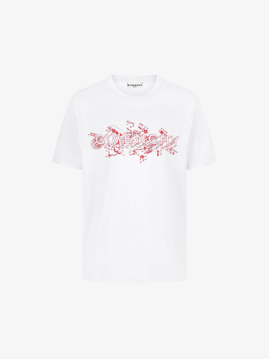 20-21AW GIVENCHY SCHEMATICS Tシャツ ホワイト (GIVENCHY/Tシャツ・カットソー) BM710W3002-100