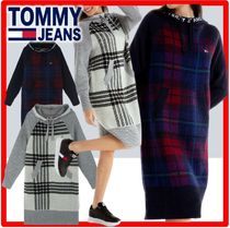 ☆人気☆Tommy Hilfiger☆Check Hooded Sweater Dres.s☆