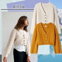 Aritzia カーディガンBruin Cardigan Cropped cable knit