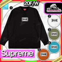 20FW /Supreme Woven Label L/S Top フロント ロゴ ロンT 長袖
