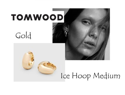 TOMWOOD E39HMNA01S9259k Ice Hoop Medium Gold ピアス 在庫手元