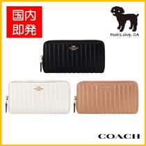 【COACH】Accordion Zip Wallet Linear Quilting◆国内発送◆