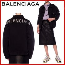 ◆BALENCIAGA◆BRANDED BACK LOGO DENIM JACKET◆正規品◆