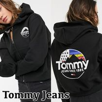 Tommy Jeans ★ バックロゴ ジップアップ パーカー フーディー