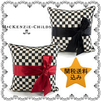 ★MacKenzie-Childs★Courtly Checkとリボンのクッション 2Color
